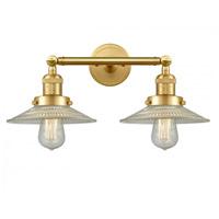 Innovations Lighting 208-SG-G2-LED Halophane LED 18 inch Satin Gold Bath Vanity Light Wall Light