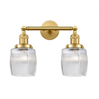 Innovations Lighting 208-SG-G302-LED Colton LED 16 inch Satin Gold Bath Vanity Light Wall Light