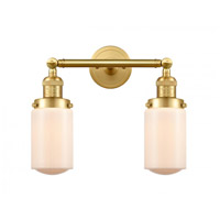 Innovations Lighting 208-SG-G311-LED Dover LED 14 inch Satin Gold Bath Vanity Light Wall Light