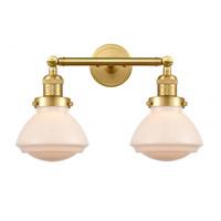 Innovations Lighting 208-SG-G321-LED Olean LED 17 inch Satin Gold Bath Vanity Light Wall Light