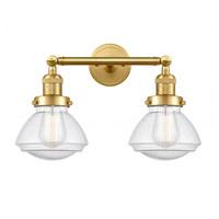 Innovations Lighting 208-SG-G324-LED Olean LED 17 inch Satin Gold Bath Vanity Light Wall Light