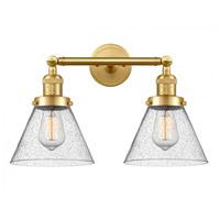 Innovations Lighting 208-SG-G44-LED Large Cone LED 18 inch Satin Gold Bath Vanity Light Wall Light