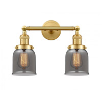 Innovations Lighting 208-SG-G53-LED Small Bell LED 16 inch Satin Gold Bath Vanity Light Wall Light