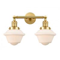 Innovations Lighting 208-SG-G531-LED Small Oxford LED 17 inch Satin Gold Bath Vanity Light Wall Light