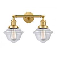 Innovations Lighting 208-SG-G532-LED Small Oxford LED 17 inch Satin Gold Bath Vanity Light Wall Light