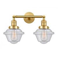 Innovations Lighting 208-SG-G534-LED Small Oxford LED 17 inch Satin Gold Bath Vanity Light Wall Light