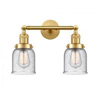 Innovations Lighting 208-SG-G54-LED Small Bell LED 16 inch Satin Gold Bath Vanity Light Wall Light