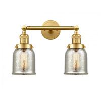 Innovations Lighting 208-SG-G58-LED Small Bell LED 15 inch Satin Gold Bath Vanity Light Wall Light