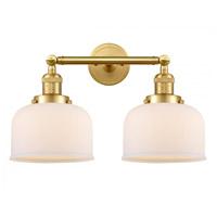 Innovations Lighting 208-SG-G71-LED Large Bell LED 19 inch Satin Gold Bath Vanity Light Wall Light