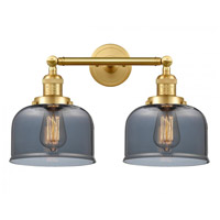 Innovations Lighting 208-SG-G73-LED Large Bell LED 19 inch Satin Gold Bath Vanity Light Wall Light