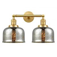 Innovations Lighting 208-SG-G78-LED Large Bell LED 18 inch Satin Gold Bath Vanity Light Wall Light