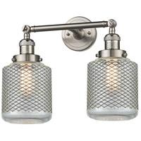 Innovations Lighting 208-SN-G262-LED Stanton LED 16 inch Brushed Satin Nickel Bathroom Fixture Wall Light