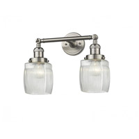 Innovations Lighting 208-SN-G302 Colton 2 Light 16 inch Brushed Satin Nickel Bathroom Fixture Wall Light