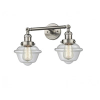 Innovations Lighting 208-SN-G532 Small Oxford 2 Light 17 inch Brushed Satin Nickel Bathroom Fixture Wall Light