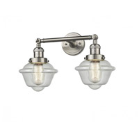 Innovations Lighting 208-SN-G534 Small Oxford 2 Light 17 inch Brushed Satin Nickel Bathroom Fixture Wall Light