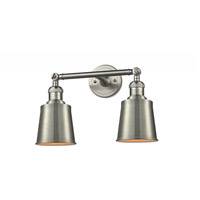 Innovations Lighting 208-SN-M9-SN Addison 2 Light 16 inch Satin Nickel Bath Vanity Light Wall Light Franklin Restoration