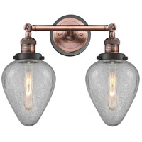 Innovations Lighting 208BP-ACBK-G165 Geneseo 2 Light 17 inch Antique Copper Bath Vanity Light Wall Light