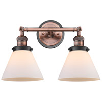 Innovations Lighting 208BP-ACBK-G41 Large Cone 2 Light 18 inch Antique Copper Bath Vanity Light Wall Light