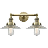 Innovations Lighting 208L-AB-G2-LED Halophane LED 9 inch Antique Brass Bath Vanity Light Wall Light Franklin Restoration