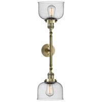 Innovations Lighting 208L-AB-G74-LED Large Bell LED 8 inch Antique Brass Bath Vanity Wall Light