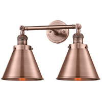 Innovations Lighting 208L-AC-M13-AC Appalachian 2 Light 8 inch Antique Copper Bath Vanity Light Wall Light, Franklin Restoration