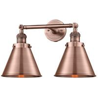 Innovations Lighting 208L-AC-M13-AC-LED Appalachian LED 8 inch Antique Copper Bath Vanity Light Wall Light, Franklin Restoration
