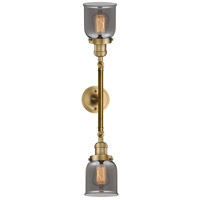 Innovations Lighting 208L-BB-G53-LED Small Bell LED 5 inch Brushed Brass Bath Vanity Wall Light