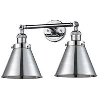 Innovations Lighting 208L-PC-M13-PC Appalachian 2 Light 8 inch Polished Chrome Bath Vanity Light Wall Light, Franklin Restoration