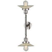 Innovations Lighting 208L-PN-G2-LED Halophane LED 9 inch Polished Nickel Bath Vanity Light Wall Light Franklin Restoration