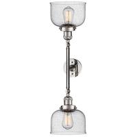 Innovations Lighting 208L-PN-G74-LED Large Bell LED 8 inch Polished Nickel Bath Vanity Wall Light