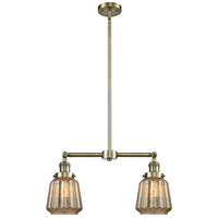 Innovations Lighting 209-AB-G146-LED Chatham LED 21 inch Antique Brass Chandelier Ceiling Light