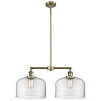 Innovations Lighting 209-AB-G72-L-LED X-Large Bell LED 21 inch Antique Brass Chandelier Ceiling Light Franklin Restoration