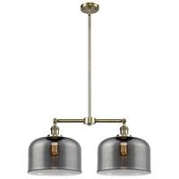 Innovations Lighting 209-AB-G73-L-LED X-Large Bell LED 21 inch Antique Brass Chandelier Ceiling Light Franklin Restoration
