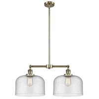 Innovations Lighting 209-AB-G74-L-LED X-Large Bell LED 21 inch Antique Brass Chandelier Ceiling Light Franklin Restoration