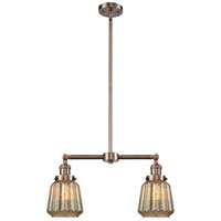 Innovations Lighting 209-AC-G146-LED Chatham LED 21 inch Antique Copper Chandelier Ceiling Light