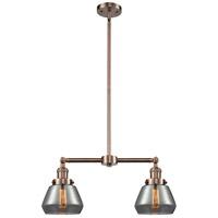 Innovations Lighting 209-AC-G173-LED Fulton LED 21 inch Antique Copper Chandelier Ceiling Light