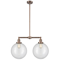 Innovations Lighting 209-AC-G202-12 XX-Large Beacon 2 Light 27 inch Antique Copper Island Light Ceiling Light Franklin Restoration