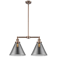 Innovations Lighting 209-AC-G43-L-LED X-large Cone LED 21 inch Antique Copper Chandelier Ceiling Light