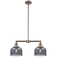 Innovations Lighting 209-AC-G73-LED Large Bell LED 21 inch Antique Copper Chandelier Ceiling Light