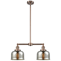 Innovations Lighting 209-AC-G78-LED Large Bell LED 24 inch Antique Copper Chandelier Ceiling Light