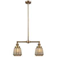 Innovations Lighting 209-BB-G146-LED Chatham LED 21 inch Brushed Brass Chandelier Ceiling Light Franklin Restoration