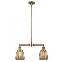 Innovations Lighting 209-BB-G146 Chatham 2 Light 21 inch Brushed Brass Chandelier Ceiling Light Franklin Restoration