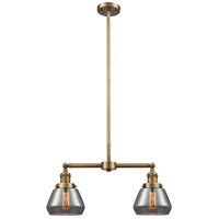 Innovations Lighting 209-BB-G173-LED Fulton LED 21 inch Brushed Brass Chandelier Ceiling Light Franklin Restoration