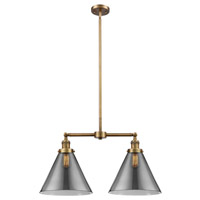 Innovations Lighting 209-BB-G43-L X-Large Cone 2 Light 43 inch Brushed Brass Island Light Ceiling Light Franklin Restoration