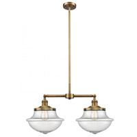 Innovations Lighting 209-BB-G544-LED Large Oxford LED 25 inch Brushed Brass Chandelier Ceiling Light Franklin Restoration