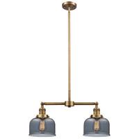 Innovations Lighting 209-BB-G73-LED Large Bell LED 21 inch Brushed Brass Chandelier Ceiling Light