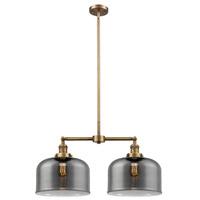 Innovations Lighting X-Large 209-BB-G73-L-LED Bell LED 21 inch Brushed Brass Chandelier Ceiling Light Franklin Restoration