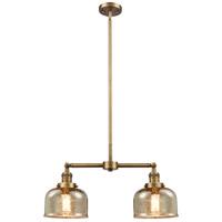 Innovations Lighting 209-BB-G78-LED Large Bell LED 24 inch Brushed Brass Chandelier Ceiling Light