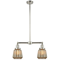 Innovations Lighting 209-PN-G146-LED Chatham LED 21 inch Polished Nickel Chandelier Ceiling Light Franklin Restoration