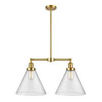 Innovations Lighting 209-SG-G44-L X-Large Cone 2 Light 21 inch Satin Gold Island Light Ceiling Light Franklin Restoration